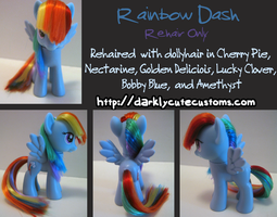 Rainbow Dash - Rehair Only by Kanamai