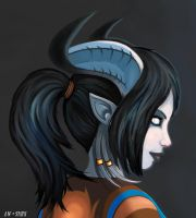 Draenei Portrait by Nefarei