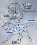 Wolf YCHs! (all sold!) by Canis-ferox