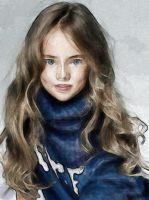 A beautiful girl_Digital watercolor first trial... by e-Zoghby
