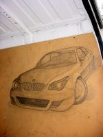 BMW M5 in a Fiat Ducato by vinyo