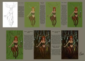Tutorial: Forest deer girl by eev11