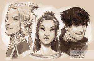 Main characters by ElsaKroese