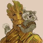 GotG: Groot and Rocket by Succubii
