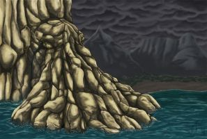 Cthulhu mountain by bgo80