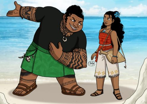 Moana and Maui ModernAu by Chouly-only