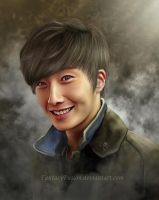 Jung Il Woo - Digital Portrait Painting by FantasyFusion