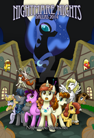 Nightmare Nights Dallas 2014 poster by purpletinker