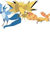Moltres, Zapdos And Articuno by richard16