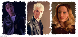 Buffy Speedpaints by SchwaGirl