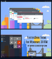 FlattasDark Theme For Windows 10 RTM by cu88