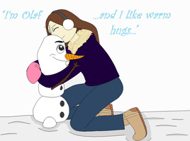 Snow and Olaf by snowcloud8