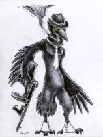 Gangster Crow by CuriousCreatures