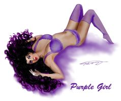 Purple Girl by montalvo-mike