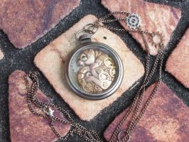 Pocket Watch Steampunk Dragon Pal by MysticReflections