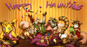 (Late Halloween) Halloween Group-pic by Sanchi-Sunpelt
