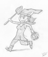 Halloween witchy sketch by DRLM