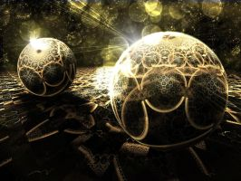 Chainmail Spheres by hourglassthorne