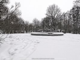 The well on snow by Koljan