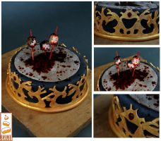 Game Of Thrones Le Trone De Fer Paint Cakes by Paintcakes