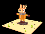 Voxel Space Deer by IndianaJonas