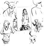 Sketches with Fiona Staples characters by shutendogi