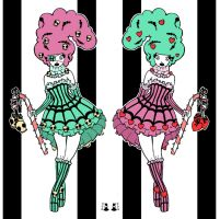 Twins_colour by DaftDollAlice