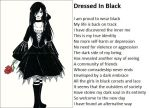 Dressed In Black by demonrobber