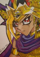 Atem ACEO card by LadyNin-Chan