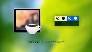Caffeine Icon + Menubar Icons (OS X Yosemite) by Baklay