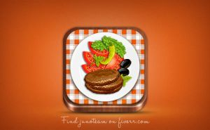 Food App icon by junoteamvn
