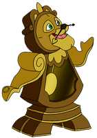Leo as Cogsworth by BennytheBeast