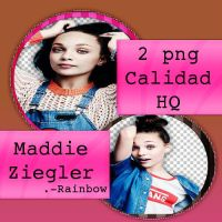 Pack Png #1-Maddie Ziegler-Rainbow by RainbowOfColors02