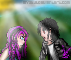 Meghan and Retsu .:Art Trade:. by IvyDevi