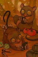 Two Texting Tarsiers sans text by ursulav