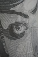 Newspaper Face Detail 2 by washwithcare