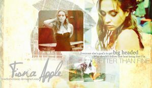 Fiona Apple Wallpaper by youthrewitaway