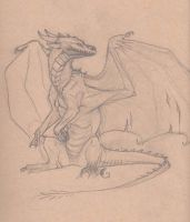 more dragon sketches by Gibsnore7