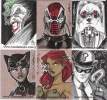 Batman Sketch Cards 02 by Hodges-Art