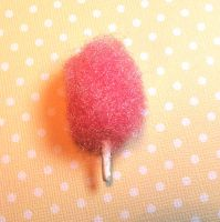 Cotton Candy Charm Miniature Food Jewelry by ClayConfectionary