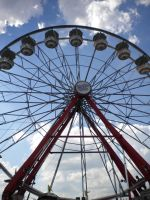ferris wheel close up by animepunk