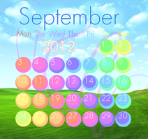 September 2012 Calendar by luminaret