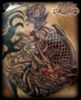 Oriental Chest Piece by state-of-art-tattoo