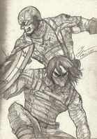 Captain and Bucky by tryvor