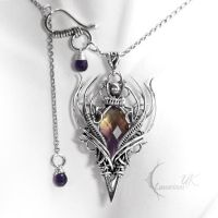QHAZNAR - silver and ametrine by LUNARIEEN