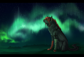 Green soul of northen skies by Hainekami