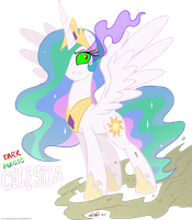 Dark Magic Celestia by RedApropos