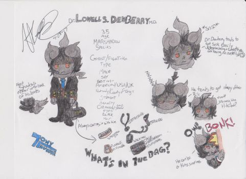:NEW CHARACTER: Dr. Lowell Dewberry by Tonythunder