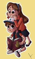 Dipper and Mabel by TheJenjineer