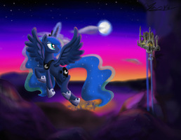 The moon rises by MarcyLin1023